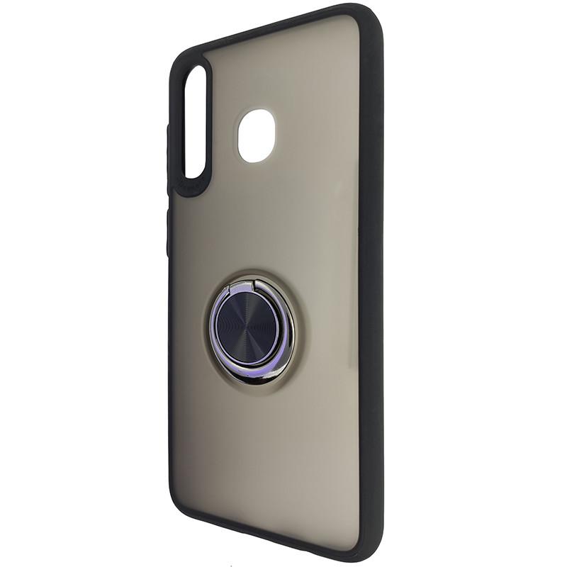 Чохол Totu Copy Ring Case Samsung A20/A30/M10S Black+Red - 3