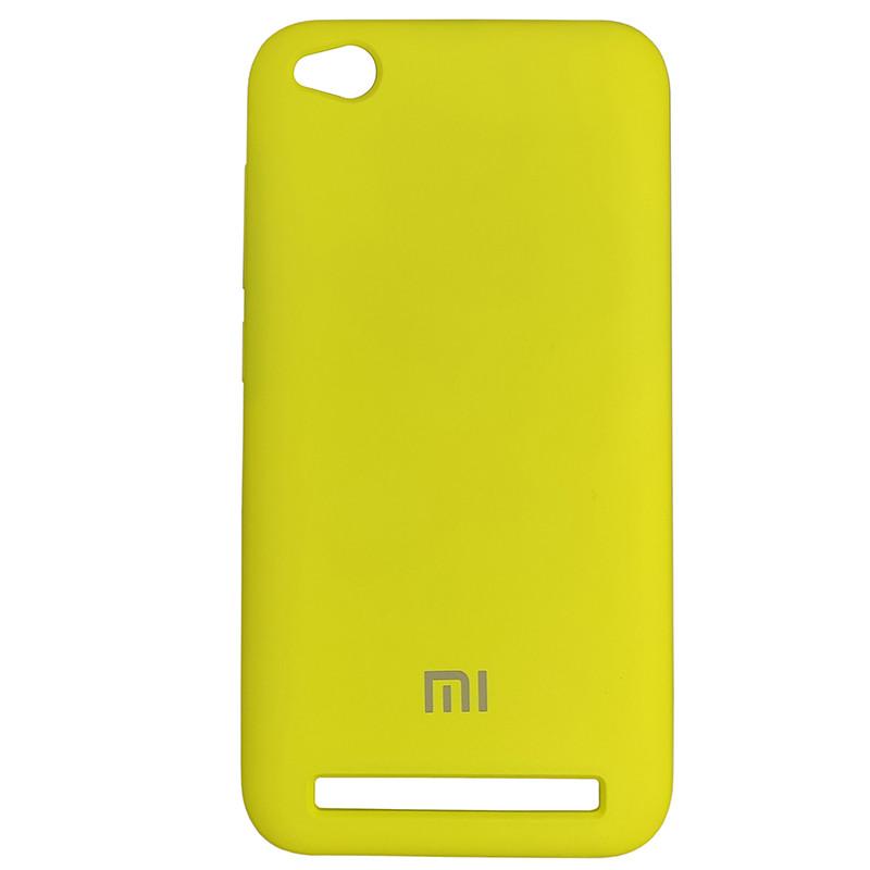 Чохол Silicone Case for Xiaomi Redmi 5A Yellow (4) - 1