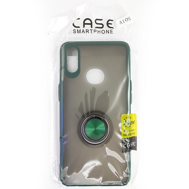 Чохол Totu Copy Ring Case Samsung A10S Green+Black - 5