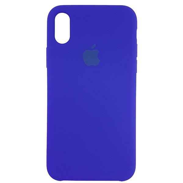 Чохол Copy Silicone Case iPhone X/XS Blue (40) - 3
