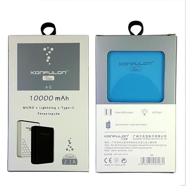 Power Bank Konfulon A6 10000 mAh Blue - 4