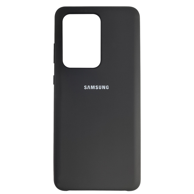 Чохол Silicone Case for Samsung S20 Ultra Black (18) - 1