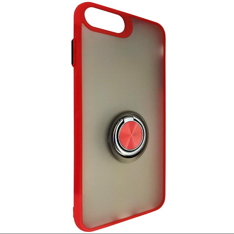 Чохол Totu Copy Ring Case iPhone 6/7/8 Plus Red+Black - 1