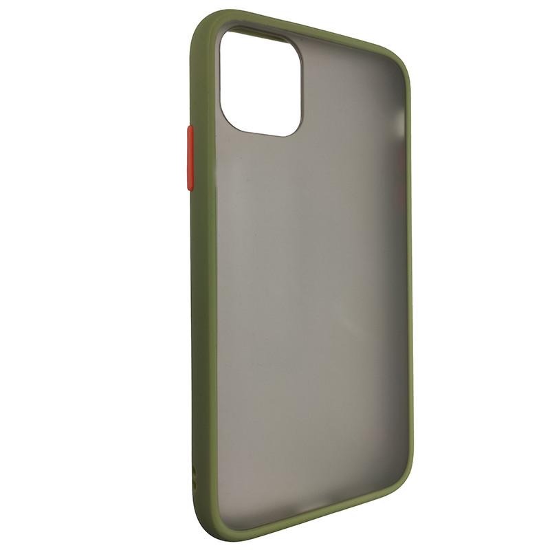 Чохол Totu Copy Gingle Series for iPhone 11 Dark Green+Orange - 1