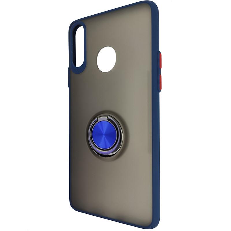 Чохол Totu Copy Ring Case Samsung A20S Blue+Red - 3