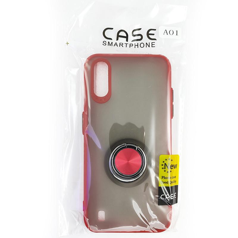 Чохол Totu Copy Ring Case Samsung A01 (A015) Red+Black - 5