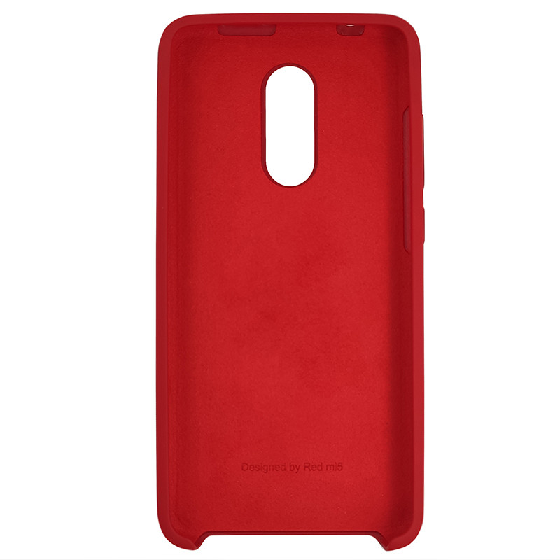 Чохол Silicone Case for Xiaomi Redmi 5 Deep Red (42) - 3