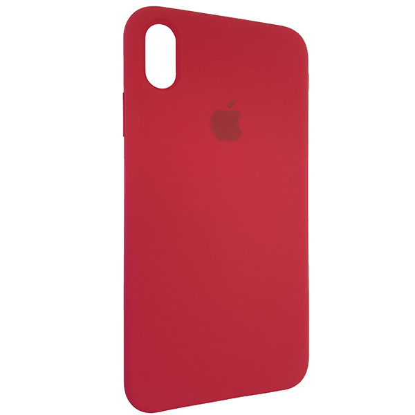 Чохол Copy Silicone Case iPhone XS Max Rose Red (36) - 1