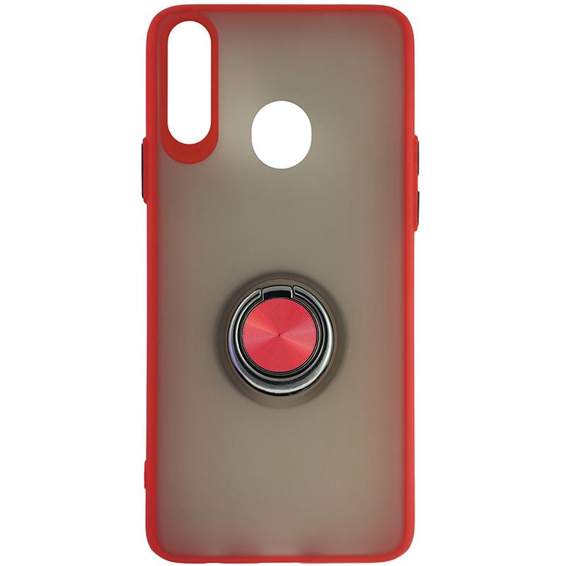 Чохол Totu Copy Ring Case Samsung A20S Red+Black - 4