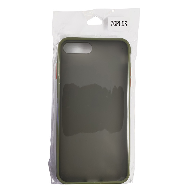 Чохол Totu Copy Gingle Series for iPhone 7/8 Plus Dark Green+Orange - 4