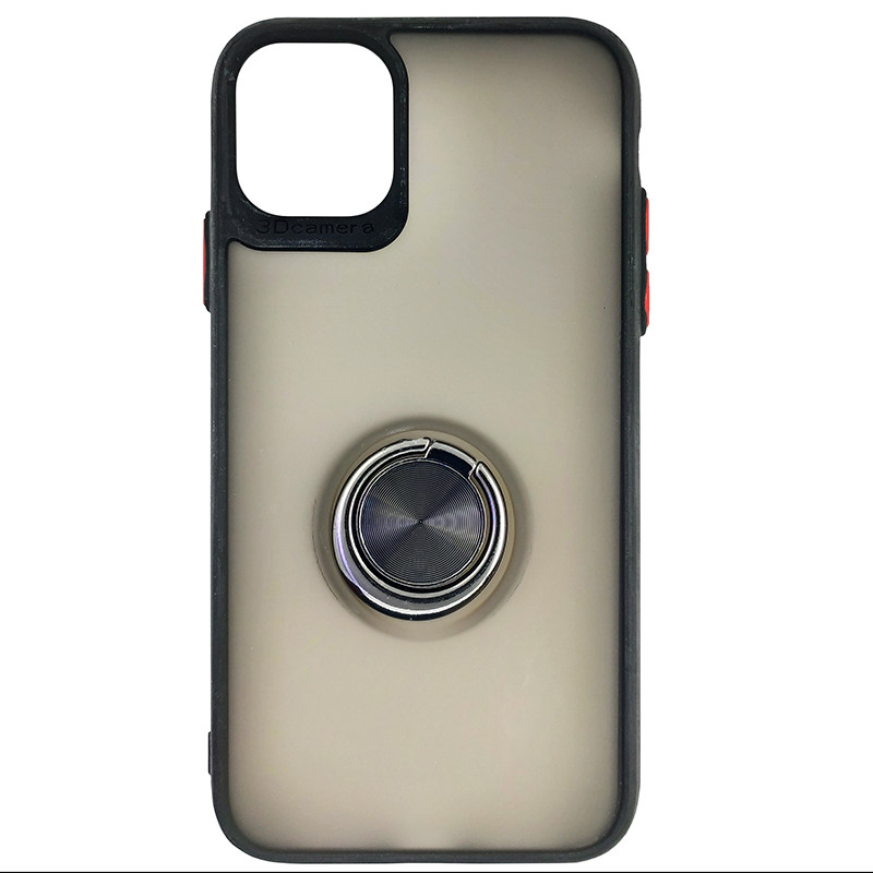 Чохол Totu Copy Ring Case iPhone 11 Black+Red - 3