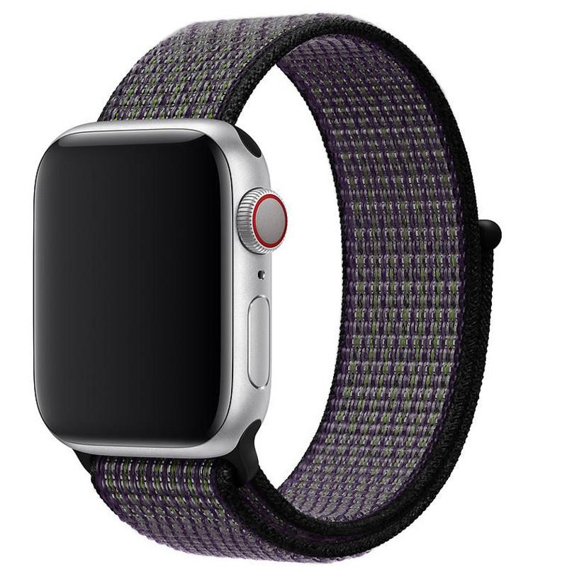 Ремінець для Apple Watch (38-40mm) Sport Loop Nike Violet/Black - 2