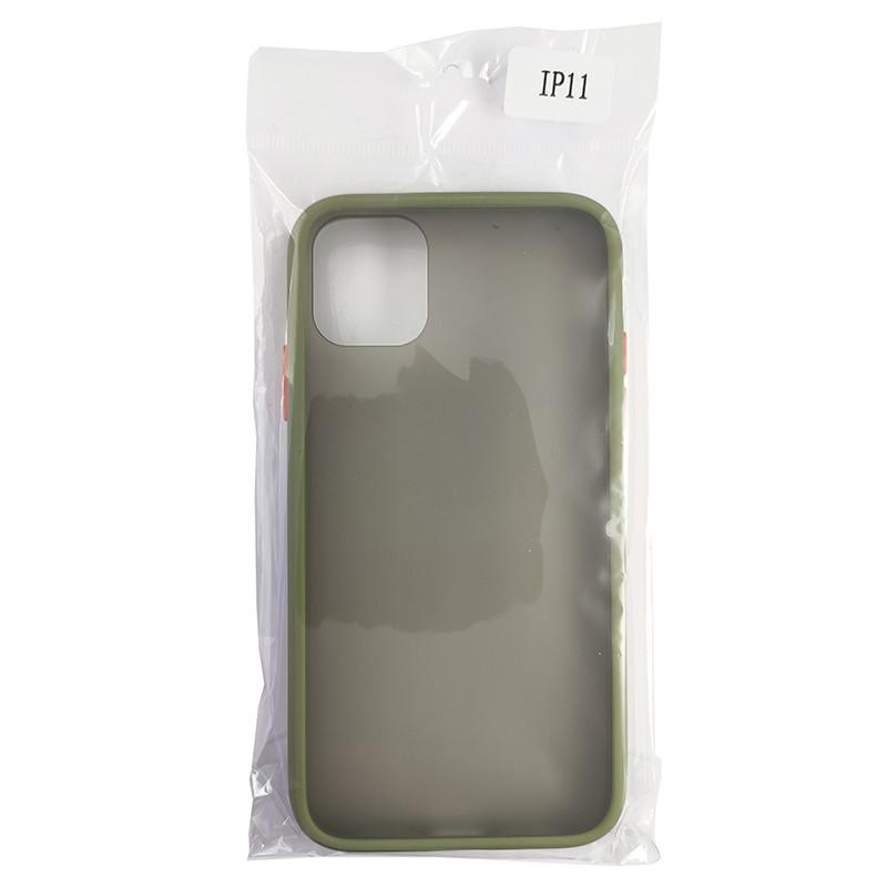 Чехол Totu Copy Gingle Series for iPhone 11 Dark Green+Orange - 4