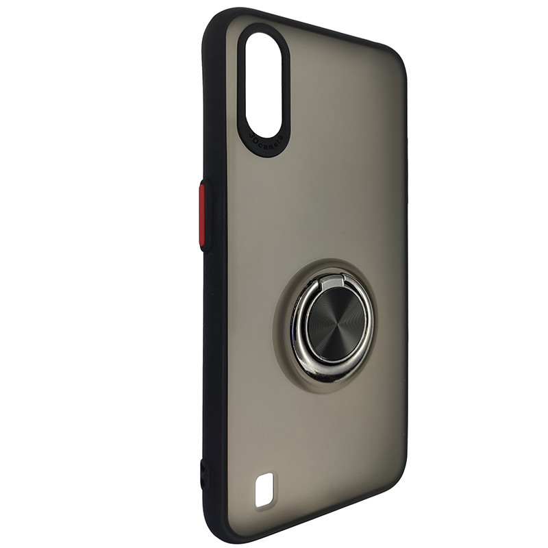 Чохол Totu Copy Ring Case Samsung A01 (A015) Black+Red - 1