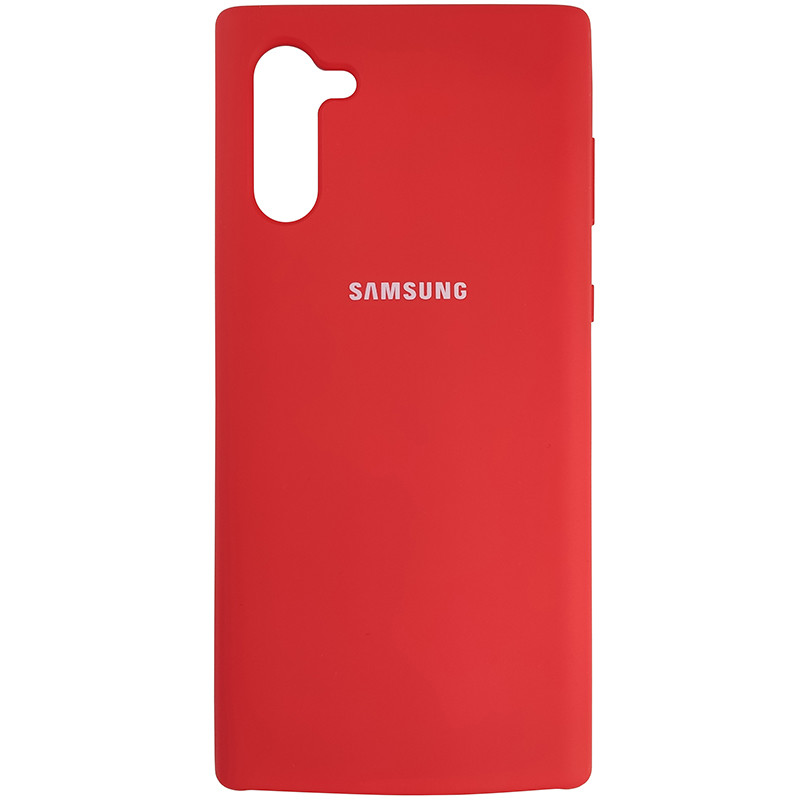 Чохол Silicone Case for Samsung Note 10 Red (14) - 1