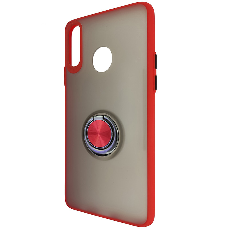 Чохол Totu Copy Ring Case Samsung A20S Red+Black - 3