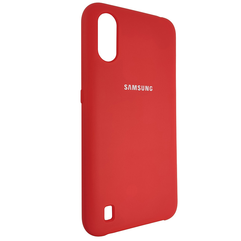 Чохол Silicone Case for Samsung A01 (A015) Red (14) - 2