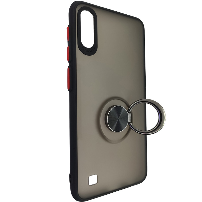 Чохол Totu Copy Ring Case Samsung A10 Black+Red - 2