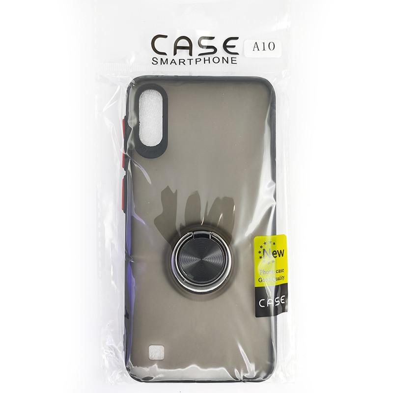 Чохол Totu Copy Ring Case Samsung A10 Black+Red - 4