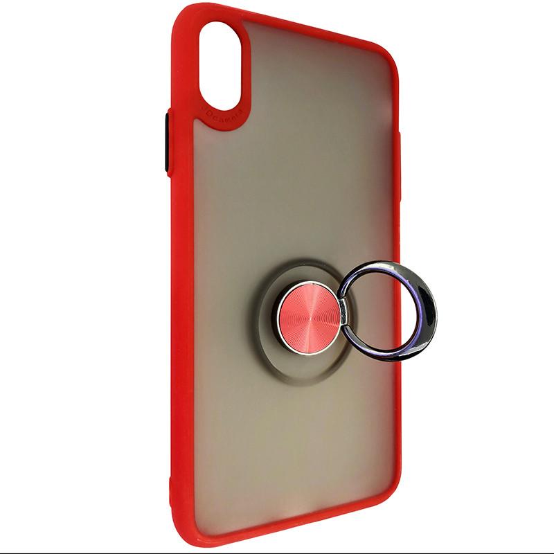 Чохол Totu Copy Ring Case iPhone XS MAX Red+Black - 2