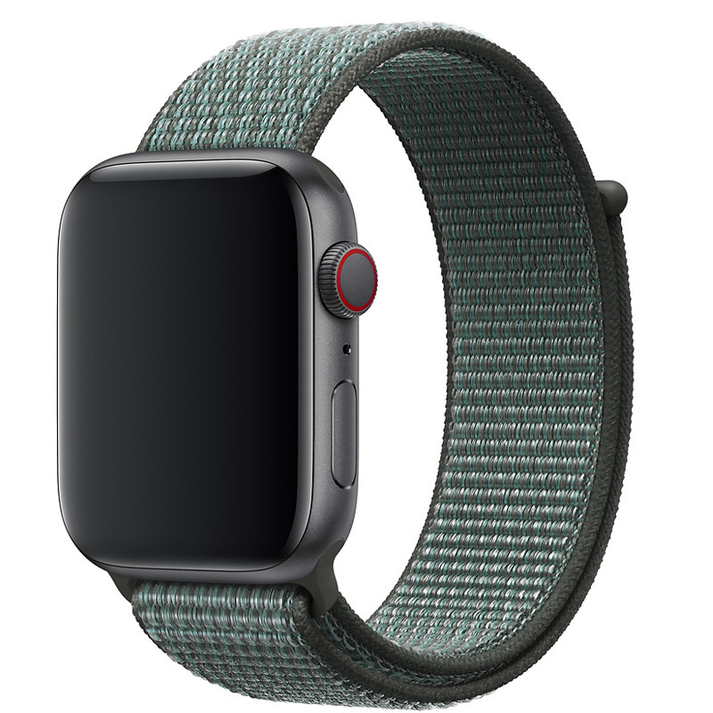 Ремінець для Apple Watch (42-44mm) Sport Loop Nike Mint/Black - 2