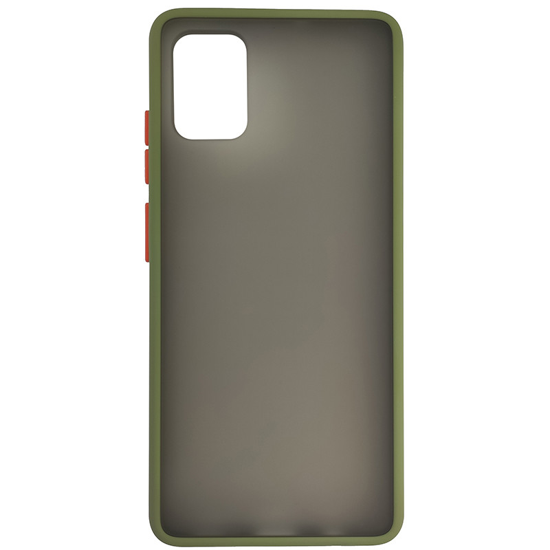 Чохол Totu Copy Gingle Series for Samsung A51/M40S Dark Green+Orange - 3