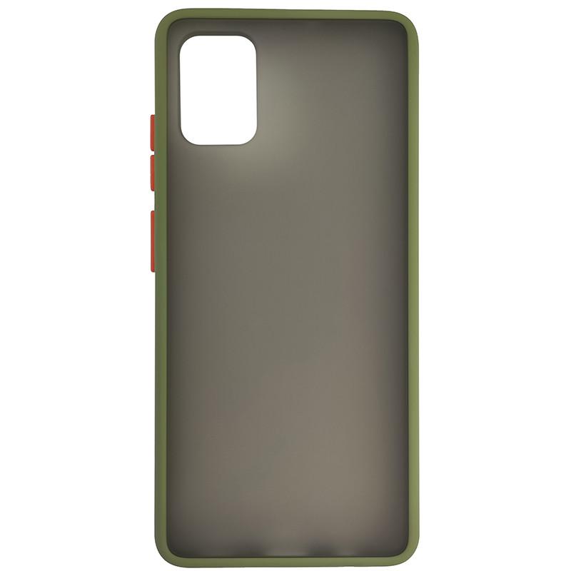 Чохол Totu Copy Gingle Series for Samsung A51/M40S Dark Green+Orange - 3