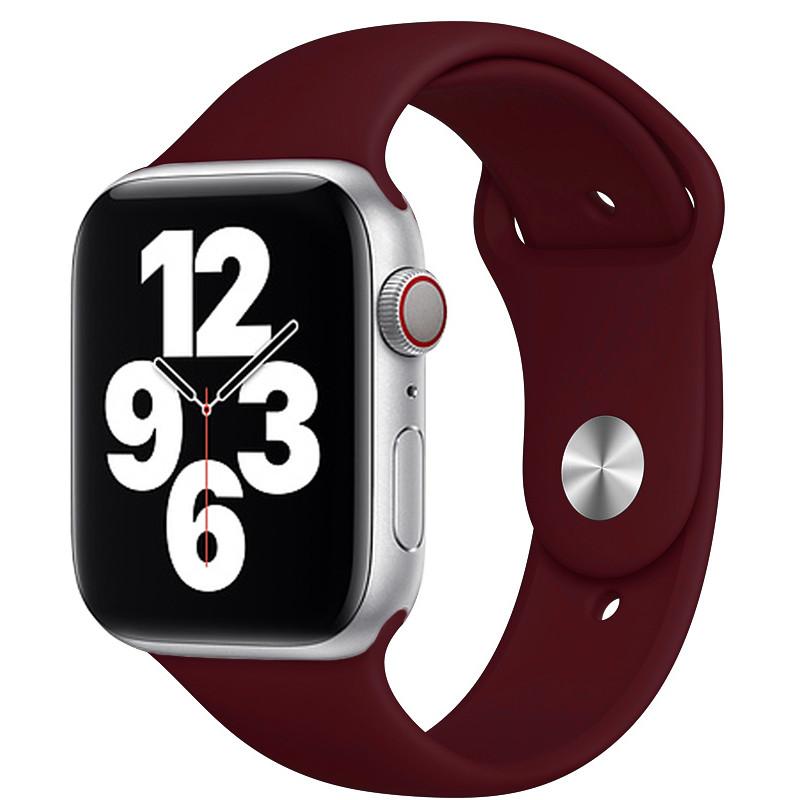 Ремінець для Apple Watch (42-44mm) Sport Band Bordo (52)  - 2