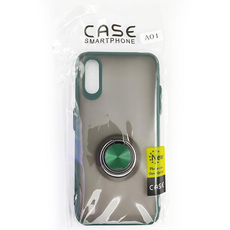 Чохол Totu Copy Ring Case Samsung A01 (A015) Green+Black - 5