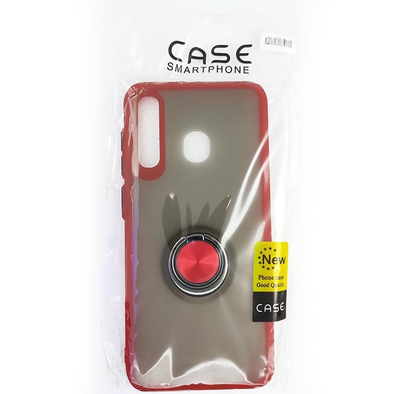 Чохол Totu Copy Ring Case Samsung A20/A30/M10S Red+Black - 5