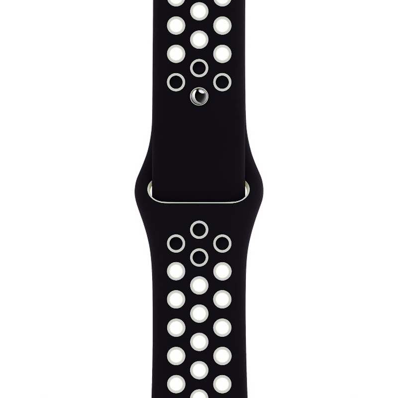 Ремінець для Apple Watch (42-44mm) Nike Sport Band Black/White - 1