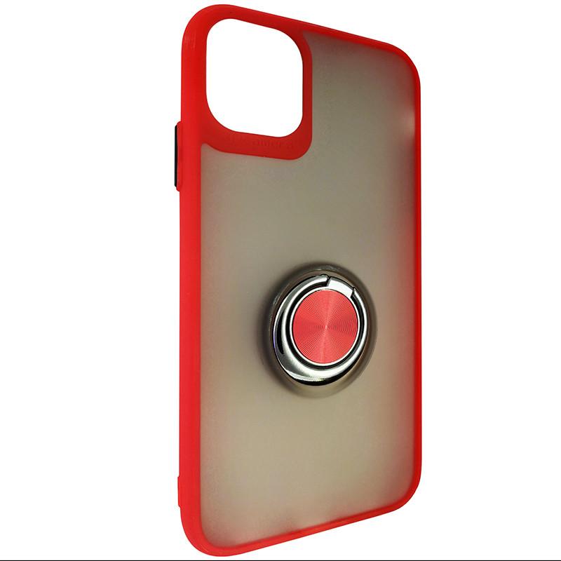Чохол Totu Copy Ring Case iPhone 11 Red+Black - 1