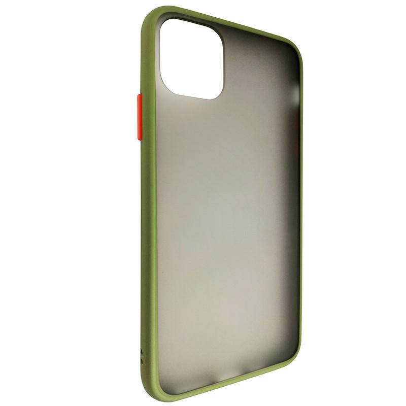 Чохол Totu Copy Gingle Series for iPhone 11 Pro Max Dark Green+Orange - 1