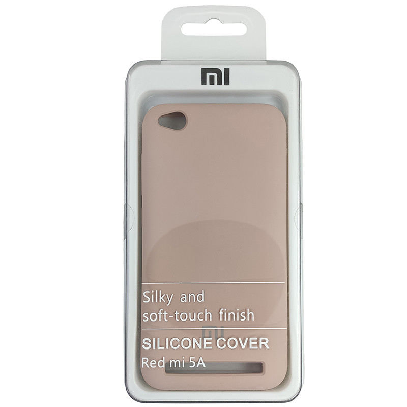 Чохол Silicone Case for Xiaomi Redmi 5A Sand Pink (19) - 4