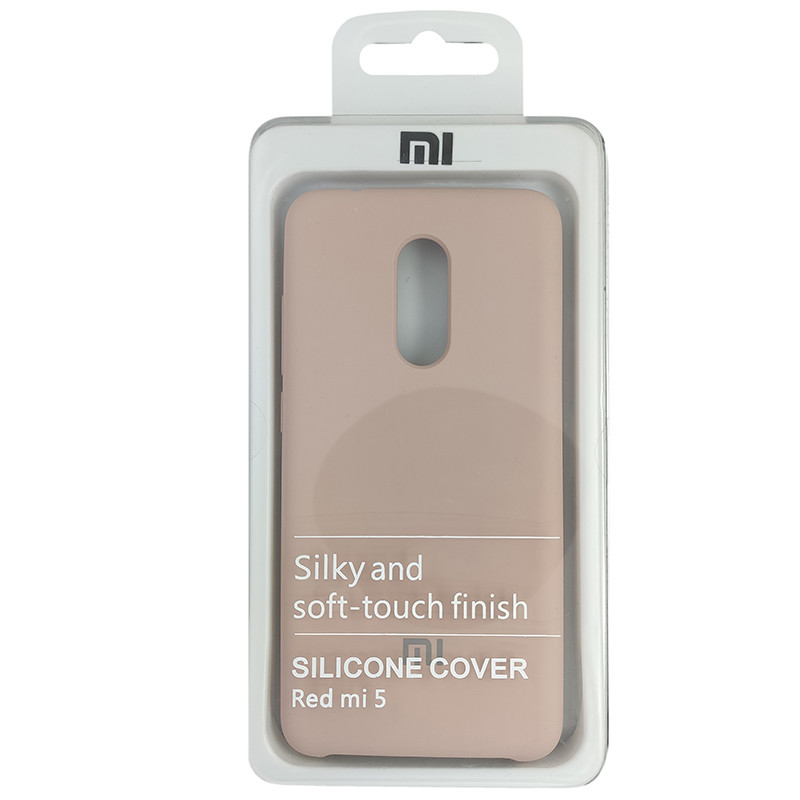 Чохол Silicone Case for Xiaomi Redmi 5 Sand Pink (19) - 4