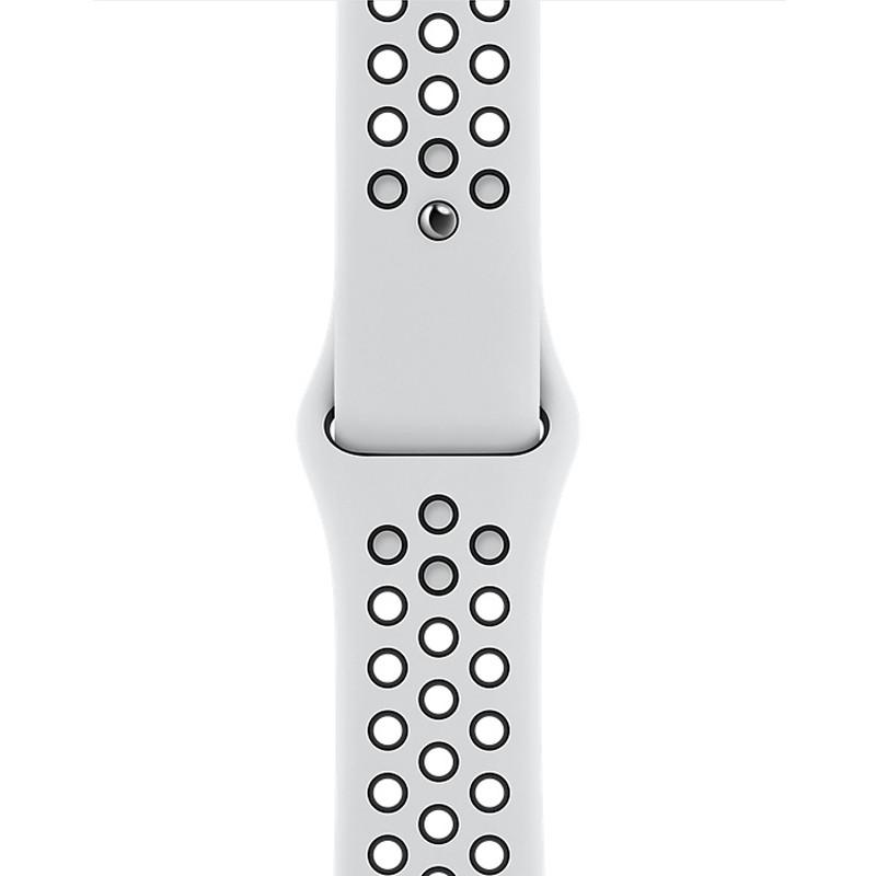 Ремінець для Apple Watch (42-44mm) Nike Sport Band White/Black - 1