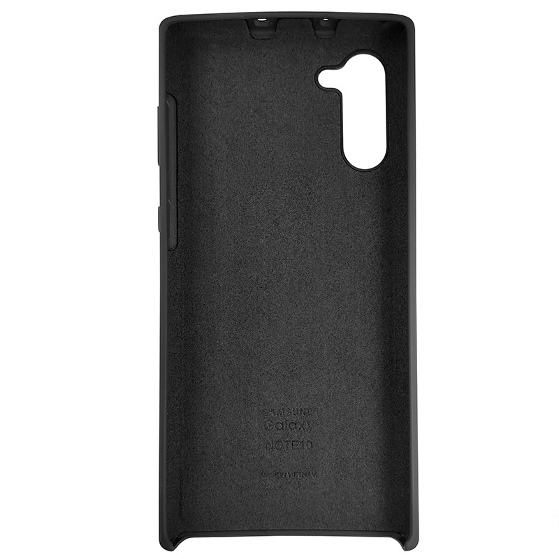 Чохол Silicone Case for Samsung Note 10 Black (18) - 3