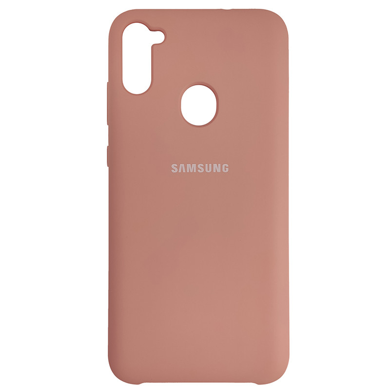 Чохол Silicone Case for Samsung A11/M11 Light Pink (12) - 1