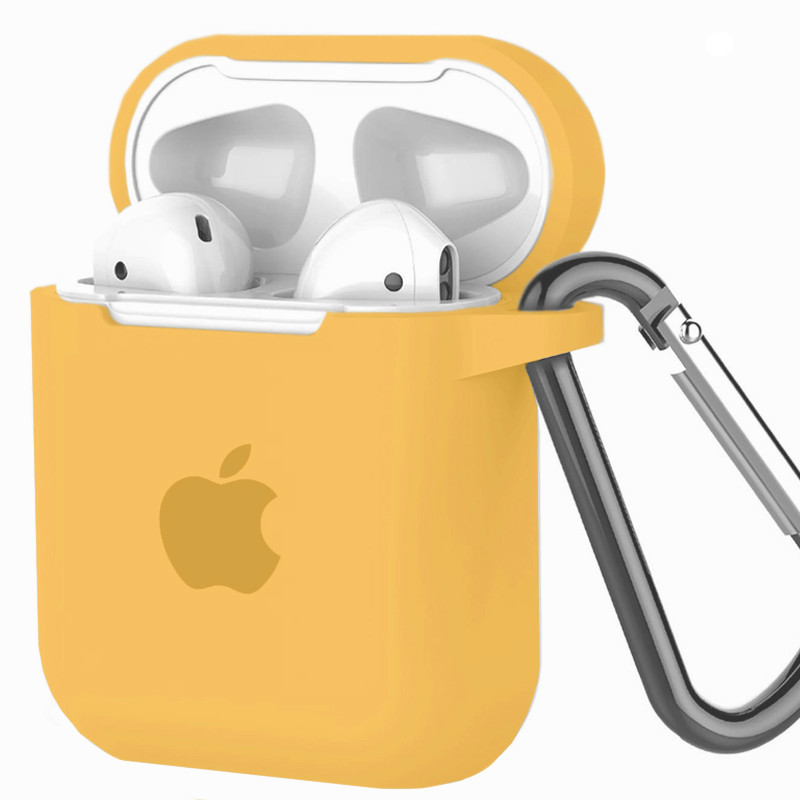 Silicone Case for AirPods Yellow (4) - 1