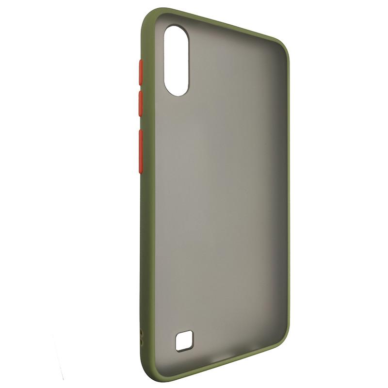 Чохол Totu Copy Gingle Series for Samsung A10 Dark Green+Orange - 1