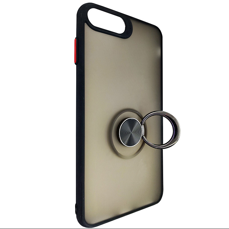 Чохол Totu Copy Ring Case iPhone 6/7/8 Plus Black+Red - 2