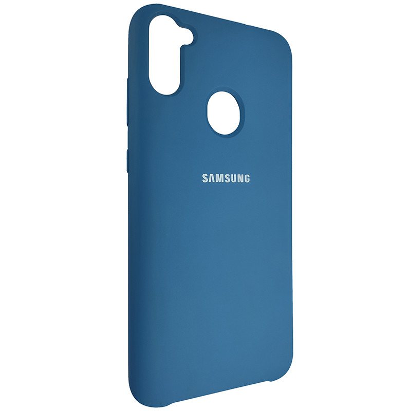 Чохол Silicone Case for Samsung A11/M11 Cobalt Blue (40) - 2