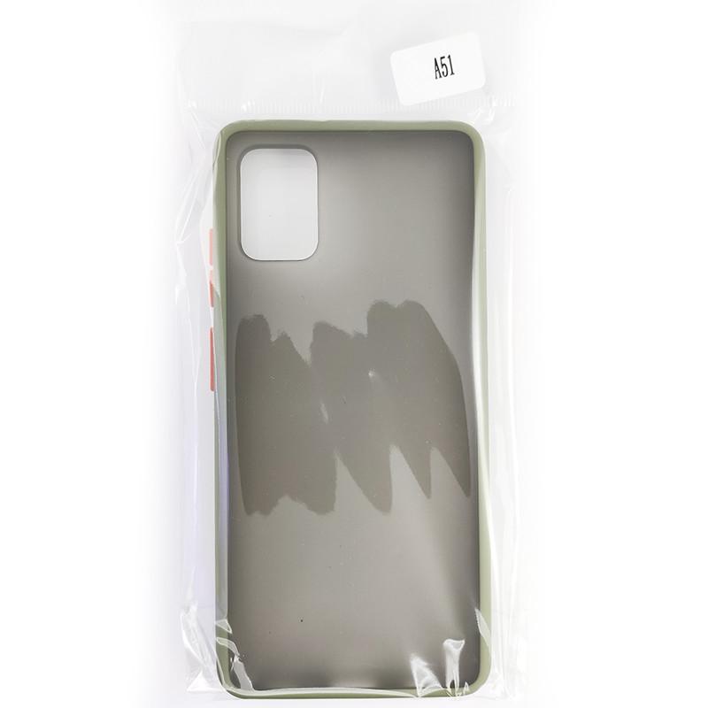 Чохол Totu Copy Gingle Series for Samsung A51/M40S Dark Green+Orange - 4