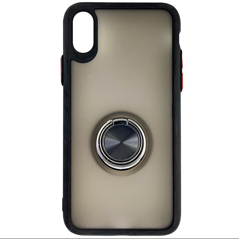 Чохол Totu Copy Ring Case iPhone X/XS Black+Red - 3