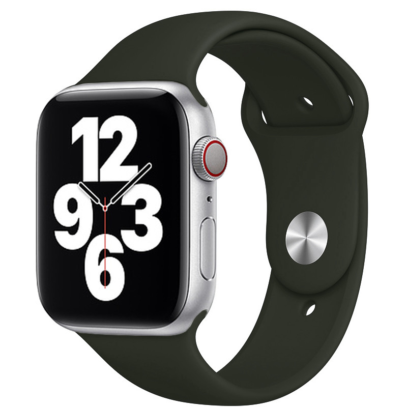 Ремінець для Apple Watch (42-44mm) Sport Band Dark Olive (34)  - 2