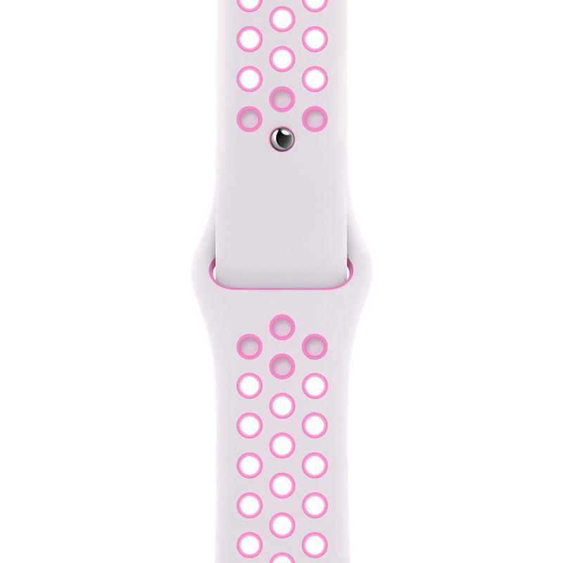 Ремінець для Apple Watch (42-44mm) Nike Sport Band White/Pink - 1