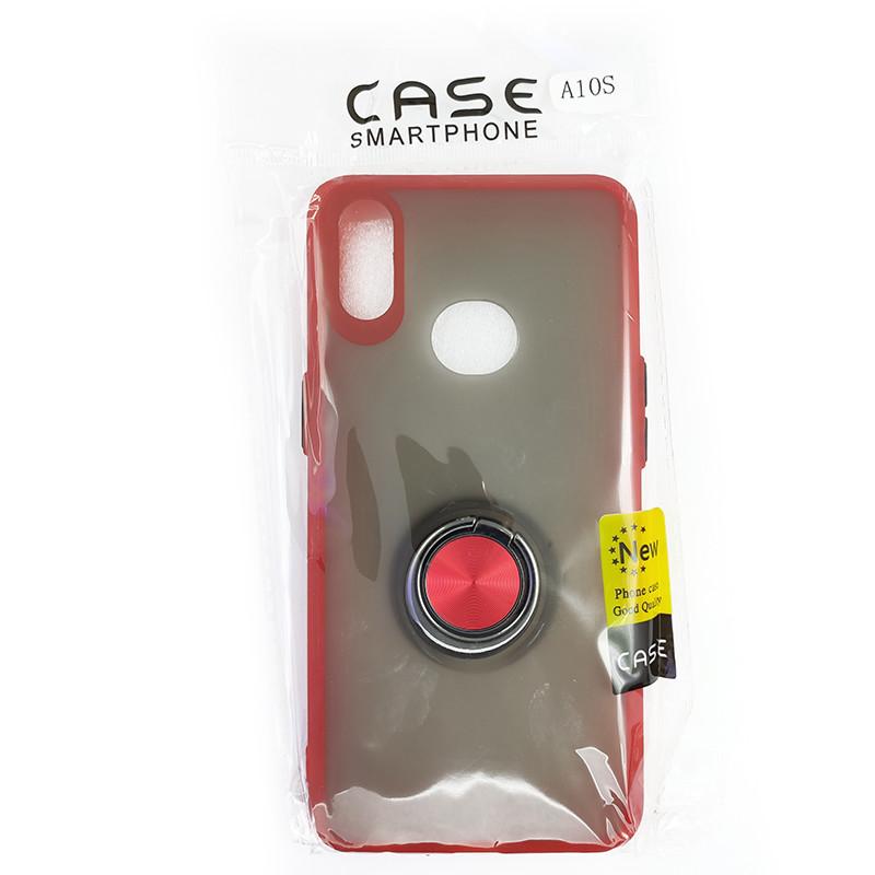 Чохол Totu Copy Ring Case Samsung A10S Red+Black - 5
