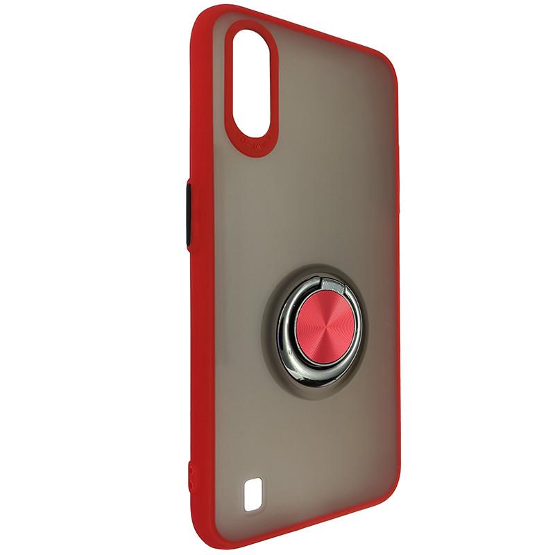 Чохол Totu Copy Ring Case Samsung A01 (A015) Red+Black - 1