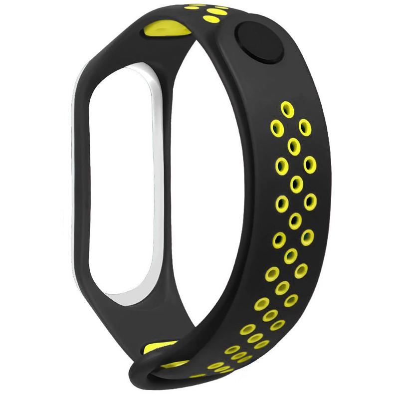 Ремінець для фітнес браслету Mi Band 3/4 Sport Band Nike Black/Green - 2