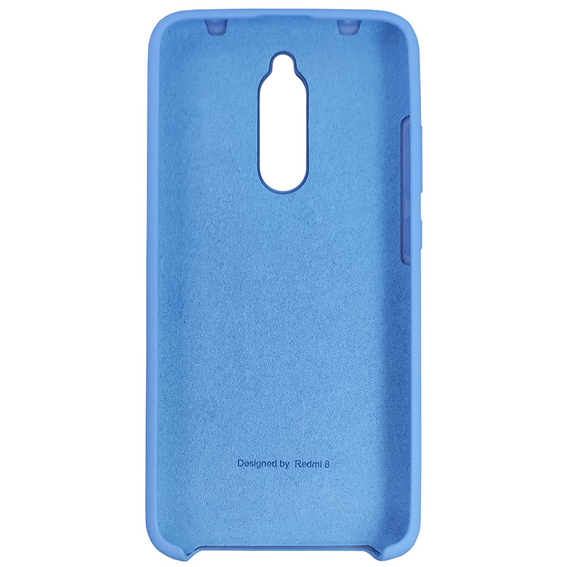 Чехол Silicone Case for Xiaomi Redmi 8 Blue (3) - 3
